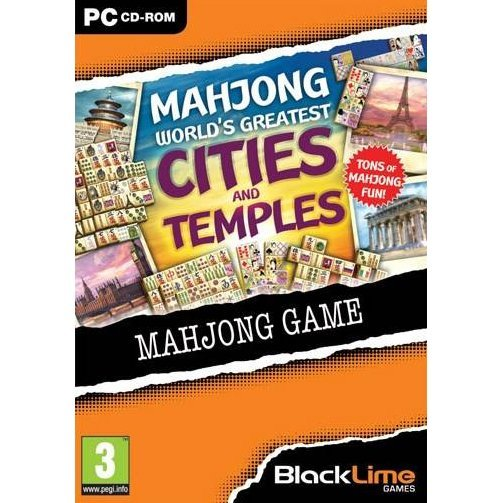 Mahjong World's Greatest Cities and Temples (Black Lime)