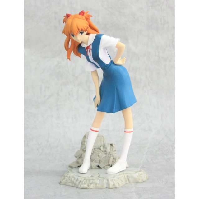 Neon Genesis Evangelion Non Scale Pre-Painted PVC Figure: Asuka Center of Tokyo-3 Ver. 1.5