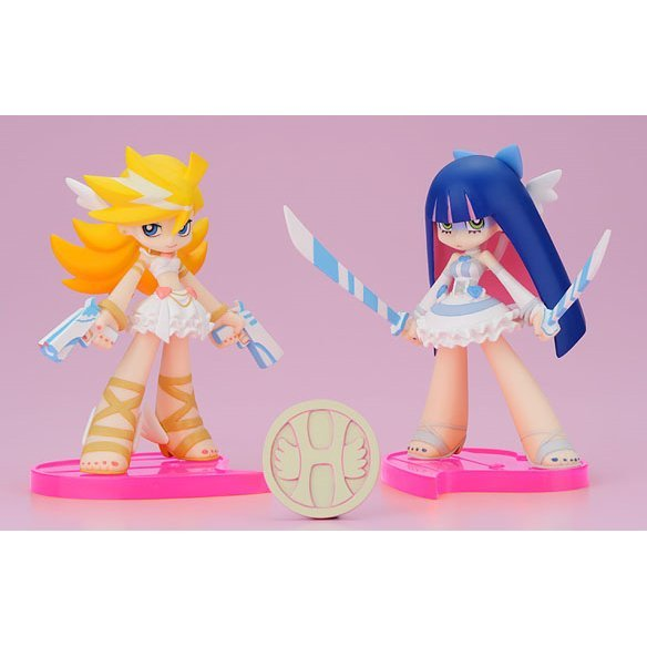 Twin Pack+ Panty & Stocking with Garterbelt Non Scale Pre-Painted PVC Figure: Panty & Stocking with Heaven Coin (Angel Ver.)
