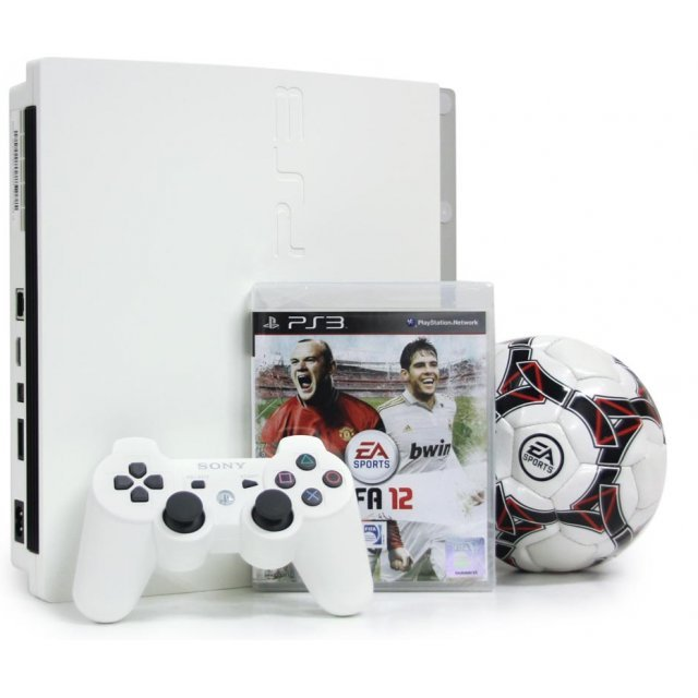 PlayStation3 Slim Console - FIFA Soccer 12 Value Pack (HDD 320GB Classic White Model) - 220V