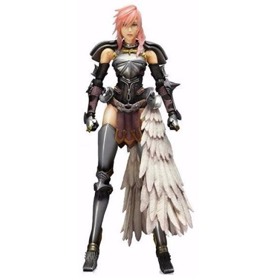 Final Fantasy XIII-2 Play Arts Kai Pre-Painted Figure: Lightning