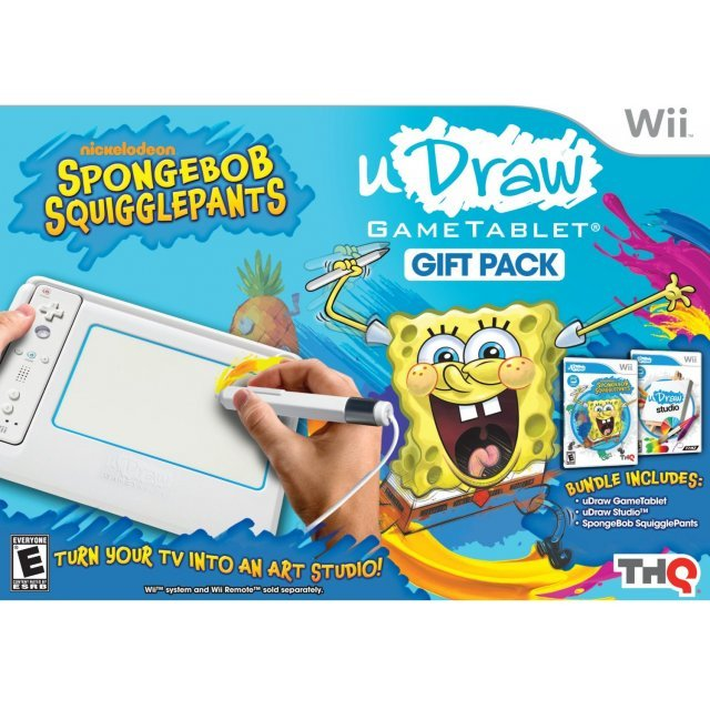 uDraw Game Tablet (w/ SpongeBob Squigglepants and Studio Bundle)
