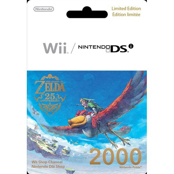 Wii Points Prepaid Card: The Legend of Zelda 25th Anniversary Limited Edition (2000 Wii Points / for US network only)