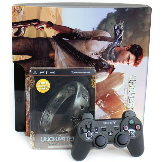 PlayStation3 Slim Console - Uncharted 3: Drake's Deception Value Pack (HDD 320GB Black Model) - 220V