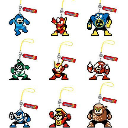 Rockman Dot Strap Collection Pre-Painted Trading Figure Vol.3