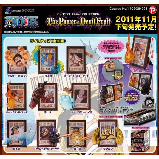 One Piece Frame Collection the Power of Devil Fruit Pre-Painted PVC Trading Figure