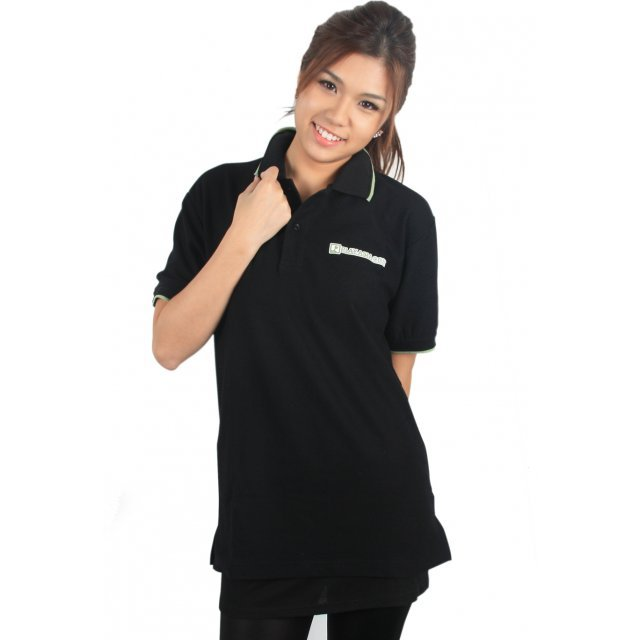 Play-Asia.com Polo T-Shirt Size L (Black)