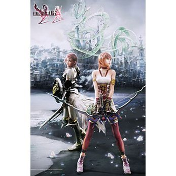 Final Fantasy XIII-2 Wall Scroll Poster Vol. 7: Lightning & Serah Farron
