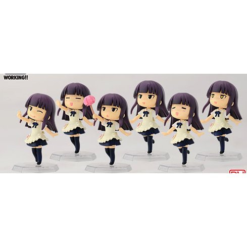 Working! Chara-Many Series Non Scale Pre-Painted PVC Figure: Yamada Aoi Set Part 1