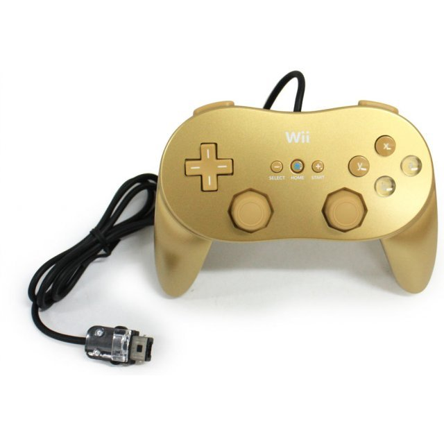 Wii Classic Controller Pro (Gold) [Club Nintendo Limited Edition]