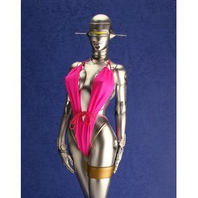 Fantasy Figure Gallery 1/4 Scale Pre-Painted Polystone Figure: Sexy Robot 001 in Pink Bathing Suit