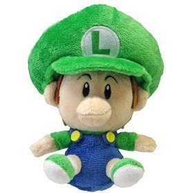 Super Mario Plush Series Doll: Baby Luigi (Small Size)