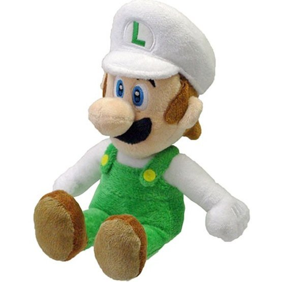 Super Mario Series Plush Doll: Fire Luigi (Small Size)