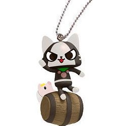 Capcom Monster Hunter Airou Furifuri Pre-Painted PVC Keychain: Melaleu/Barrel