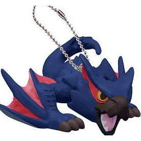 Capcom Monster Hunter Airou Furifuri Pre-Painted PVC Keychain: Nargacuga