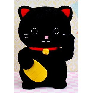 Caltoy Plush Doll: Lucky Cat Black Ver.