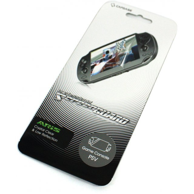 Capdase Aris Professional Screenguard (Crystal Clear + Low Reflection) Front Cover PS Vita