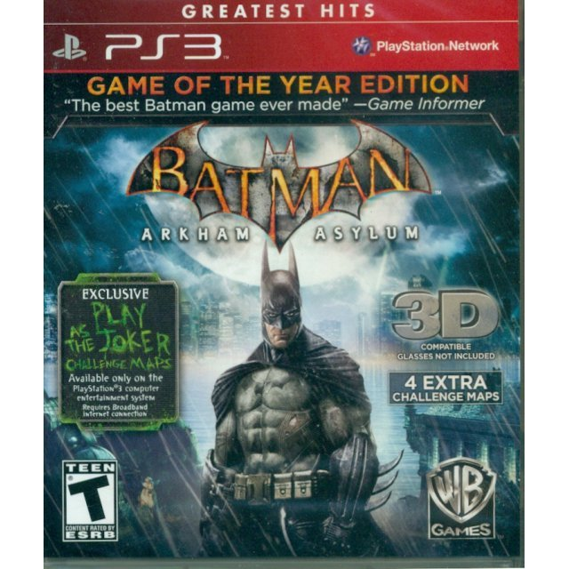 Batman: Arkham Asylum [Game of the Year Edition 3D] (Greatest Hits) Damage case
