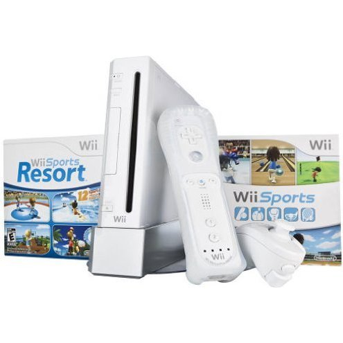 Nintendo Wii Bundle (incl. Wii Sports & Wii Sports Resort) (White)