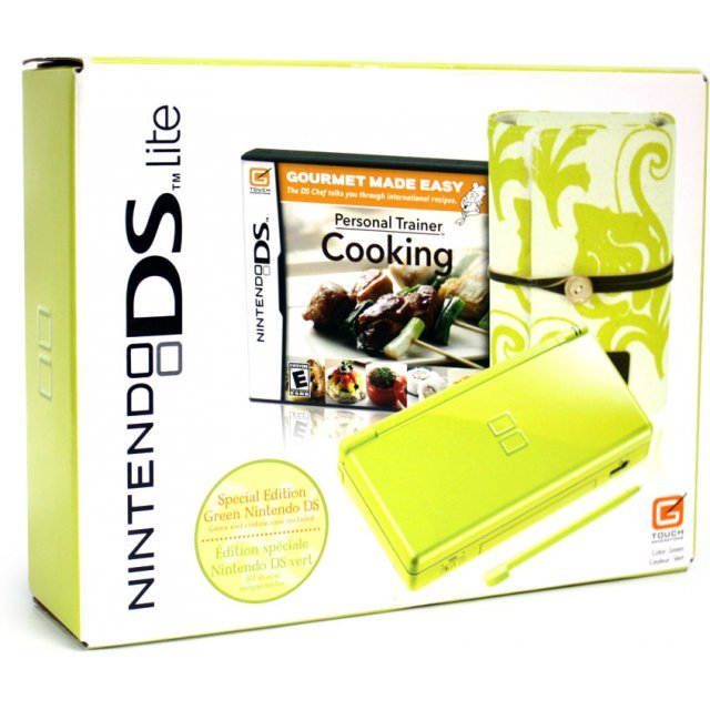 Nintendo DS Lite Green Spring Bundle (w/Personal Trainer: Cooking)
