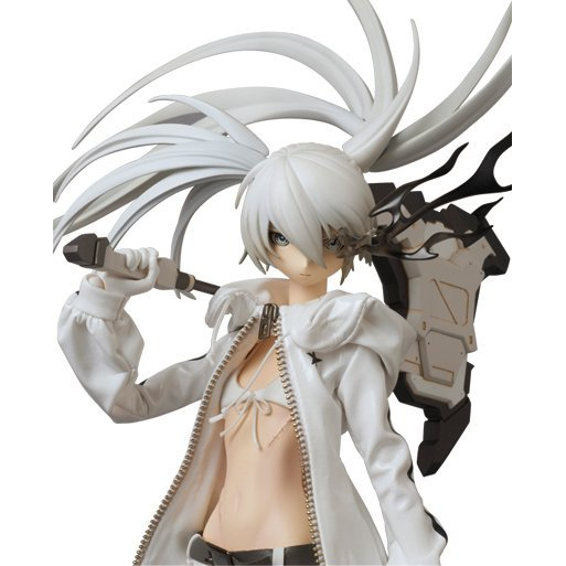 Real Action Heroes - Black Rock Shooter Pre-Painted Action Figure: White Rock Shooter