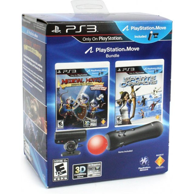 PlayStation 3 Move Bundle (with Medieval Moves: Deadmund's Quest and Sports Champions)