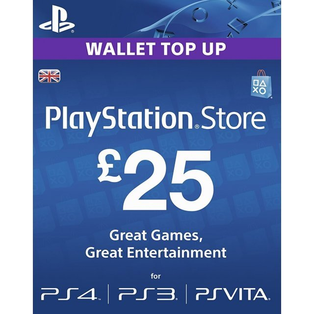 psn card 25 gbp playstation network uk digital. Black Bedroom Furniture Sets. Home Design Ideas