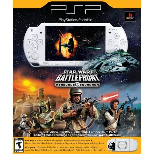 PSP Limited Edition Star Wars Battlefront: Renegade Squadron Entertainment Pack - Ceramic White