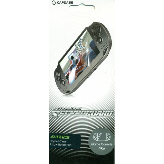 Capdase Aris Professional Screenguard (Crystal Clear + Low Reflection) Screen & Sides Panel PS Vita