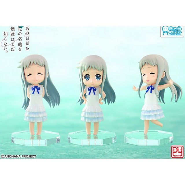 Anohana Non Scale Pre-Painted PVC Figure: Menma Yamada and friends forever set (3 pieces)