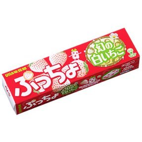 UHA Puru Puccho White Strawberry Stick Candy