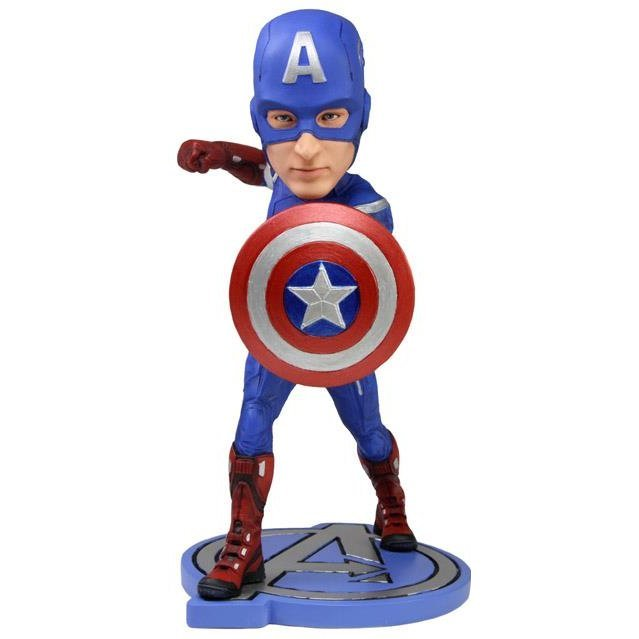NECA Avengers Captain America Head Knocker (Re-run)