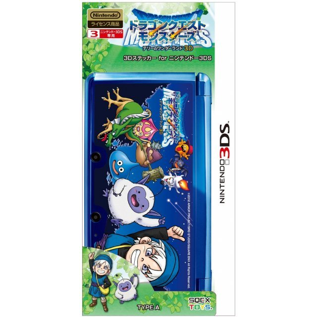Dragon Quest Monsters Terry no Wonderland 3D Sticker for Nintendo 3DS [Type A]