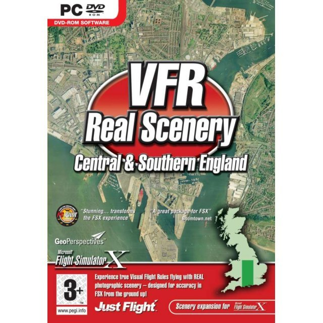 VFR Real Scenery Volume 2: Central and Southern England (DVD-ROM)