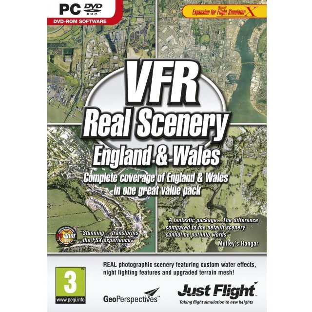 VFR Real Scenery: England and Wales (DVD-ROM)