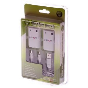 Venom Twin Rechargeable Battery Packs (White)