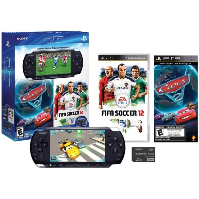 PSP 3000 Limited Edition Entertainment Pack: FIFA 2012 & Cars 2 (Black)