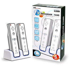Wii LED Recharger Stand (White)