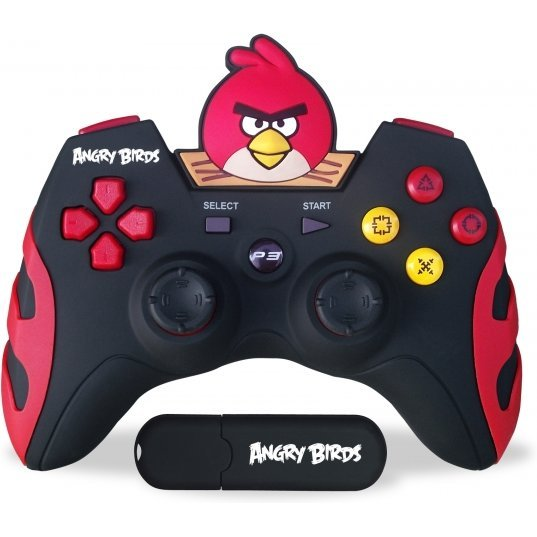 Angry Birds 2.4 ghz Rechargable Wireless Gamepad