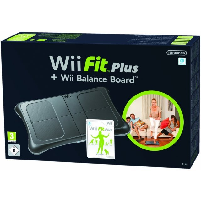 Wii Fit Plus (w/ Black Wii Balance Board)