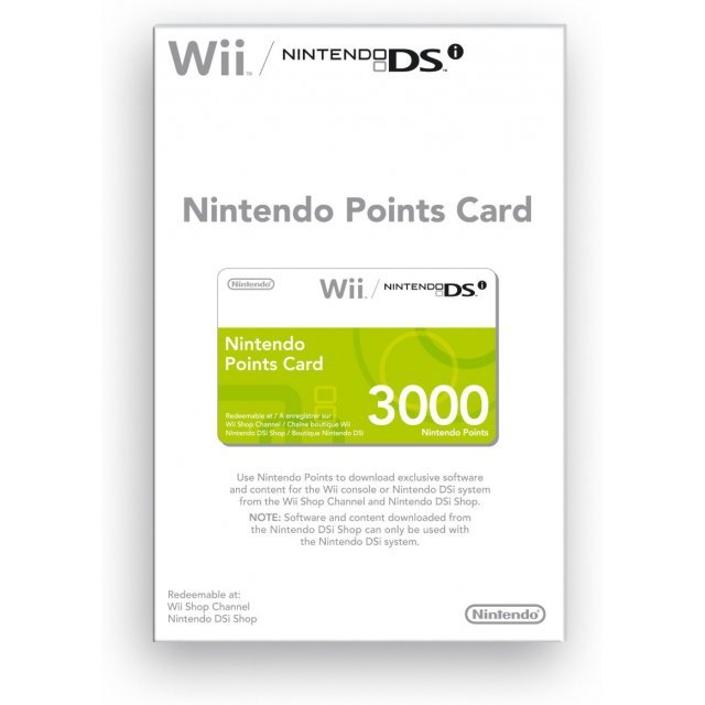 Nintendo Points Card (3000 Wii/DSi Points)