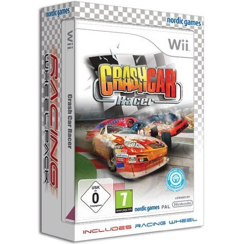 Crash Car Racer Bundle with Racing Wheel