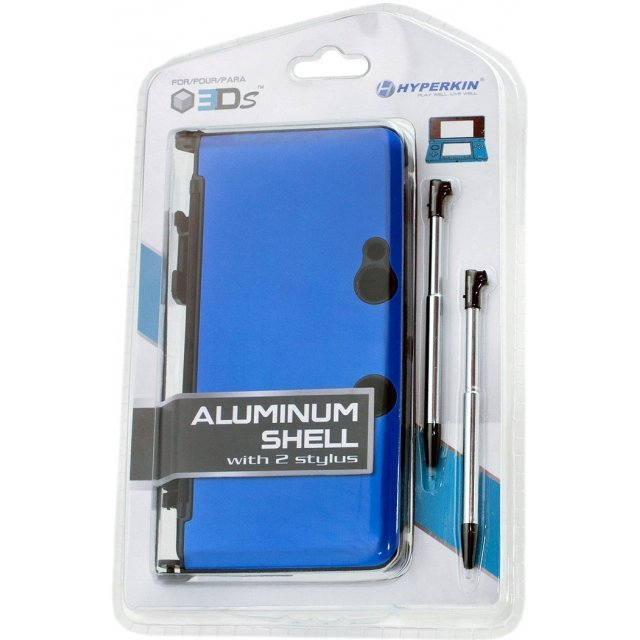 Hyperkin Nintendo 3DS Aluminum Shell plus Stylus Pens Kit (Blue)