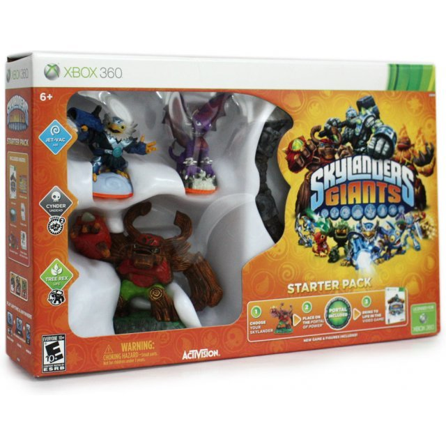 Starter Pack includes: 1-Video Game, 1-Traptanium Portal, 2-Skylanders Figures, 2-Traps, 1-Character Collector Poster, 2-Sticker Sheets with Secret Codes and 2-Trading Cards.