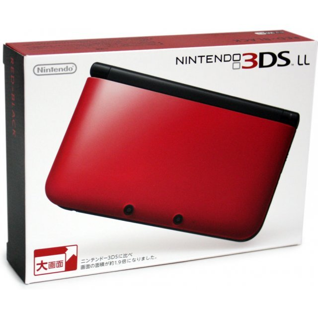 Nintendo 3DS LL (Red x Black)
