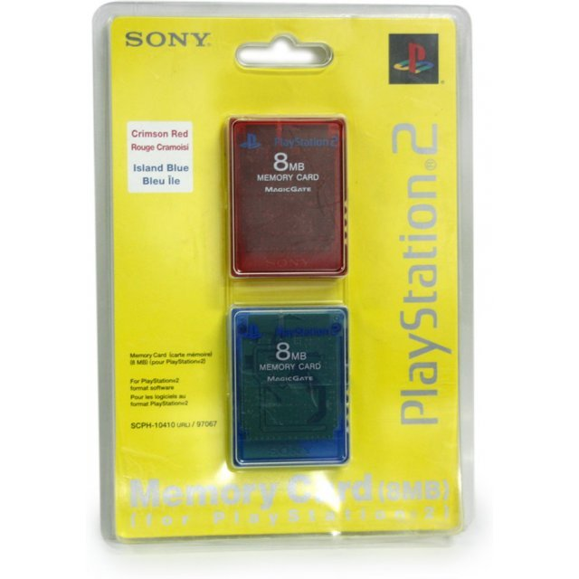 Memory Card 8MB 2 Pack (Red/Blue)