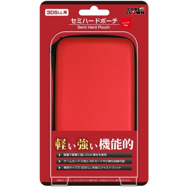 Semi Hard Pouch for 3DS LL (Red)
