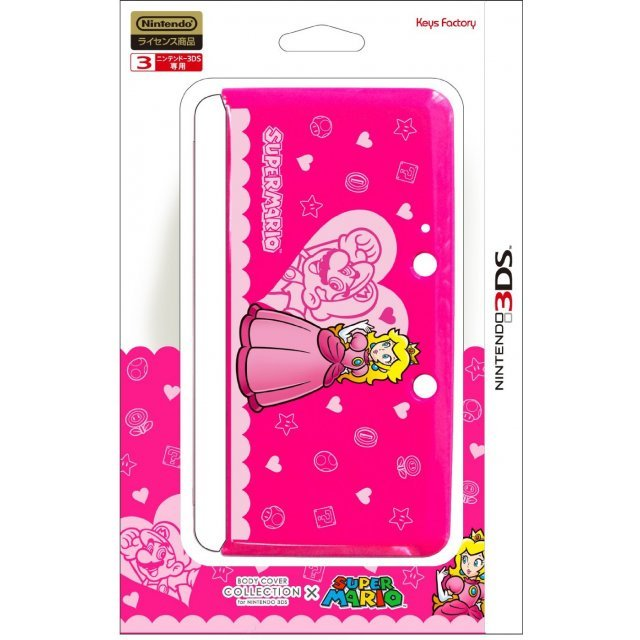 Body Cover 3DS Type E (Super Mario & Peach - Pink)