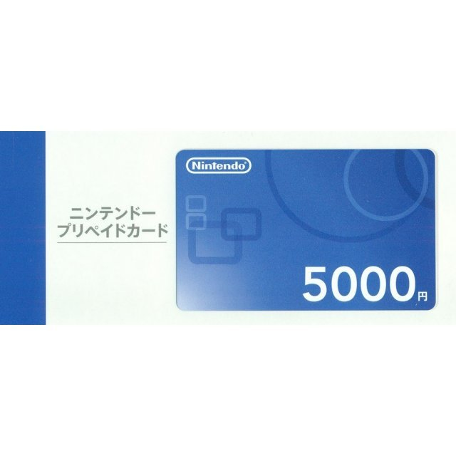 Nintendo Network Card / Ticket (5000 YEN / for Japanese network only) [retail packing]