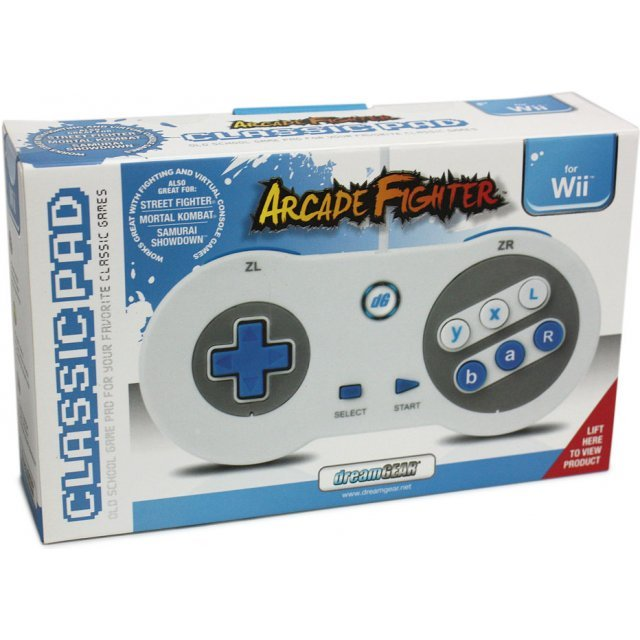 DreamGear Arcade Fighter Classic Pad - White and Blue